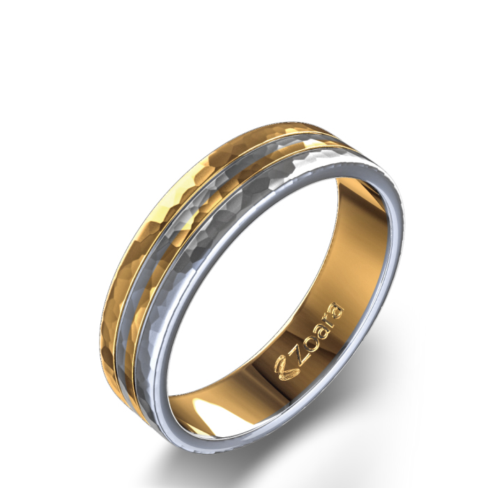 men's two tone wedding ring