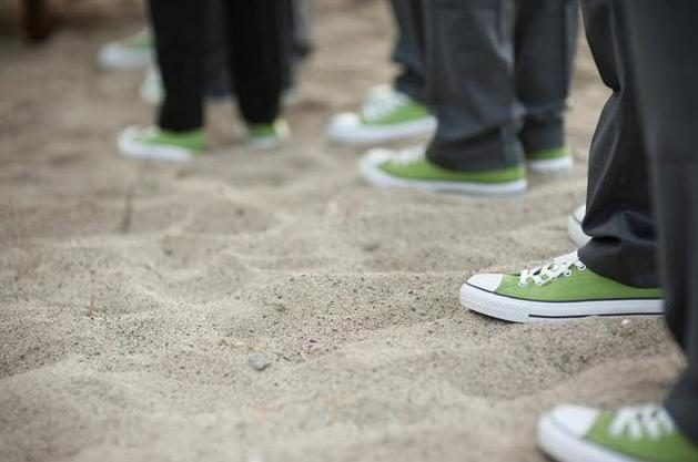 groomsmen green chucks