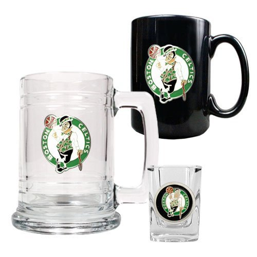 Celtics Tankard Mug Shot Glass Set