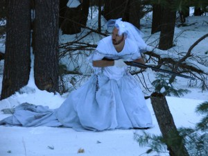 Dress use #50: snow camouflage