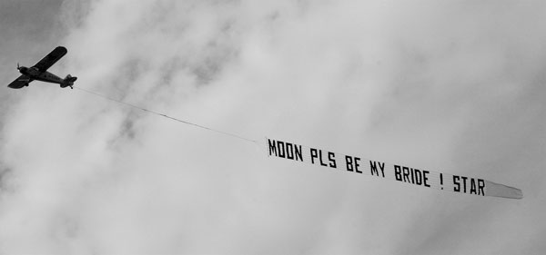 airplane marriage proposal
