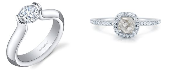Diamond Solitaire from Gelin Abaci. Diamond in the Rough from Micro-Pavé
