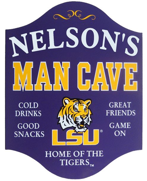 lsu tigers custom wood mancave sign