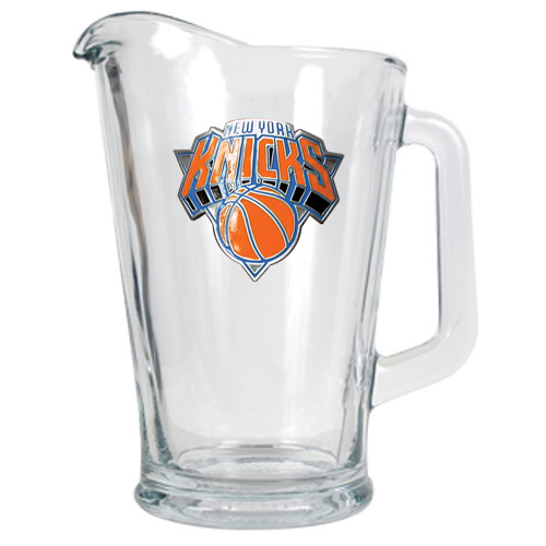 knicks glass pitcher