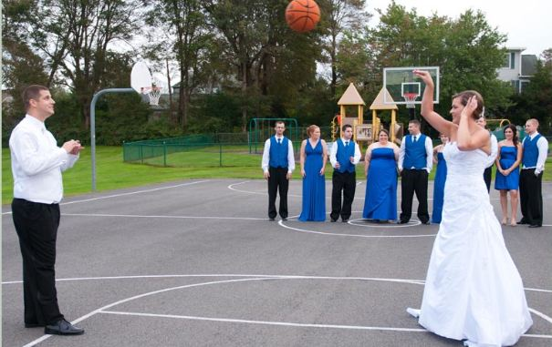 basketball wedding court