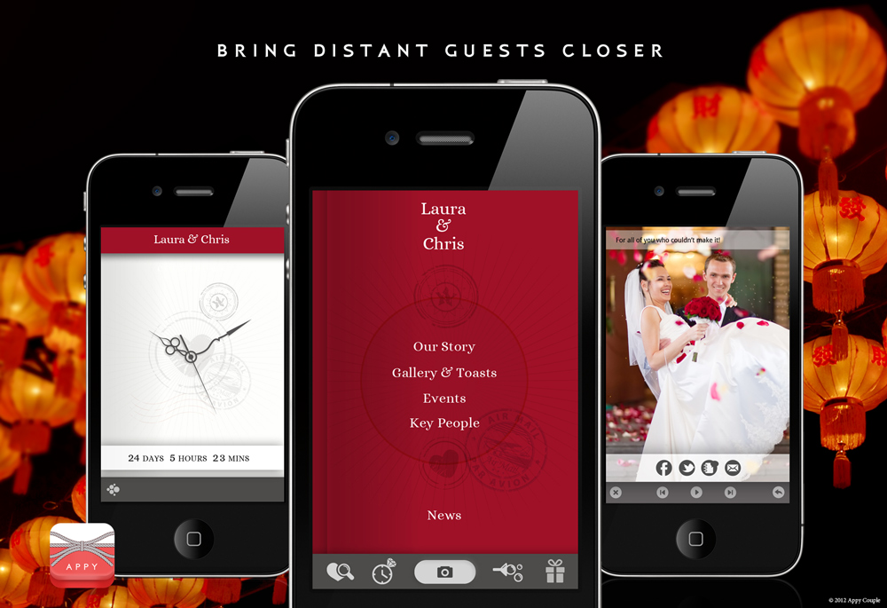 iphone mobile wedding application