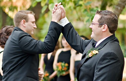 groom high five