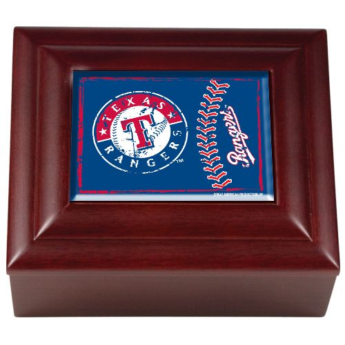 texas rangers wood keepsake box