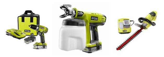 home depot ryobi one plus lithium ion tool collection