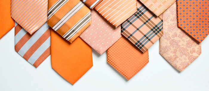 orange wedding ties