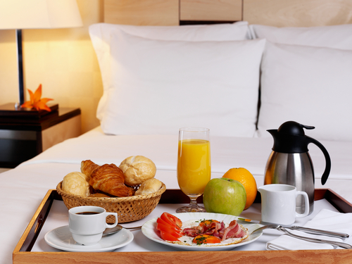 breakfast in bed honeymoon