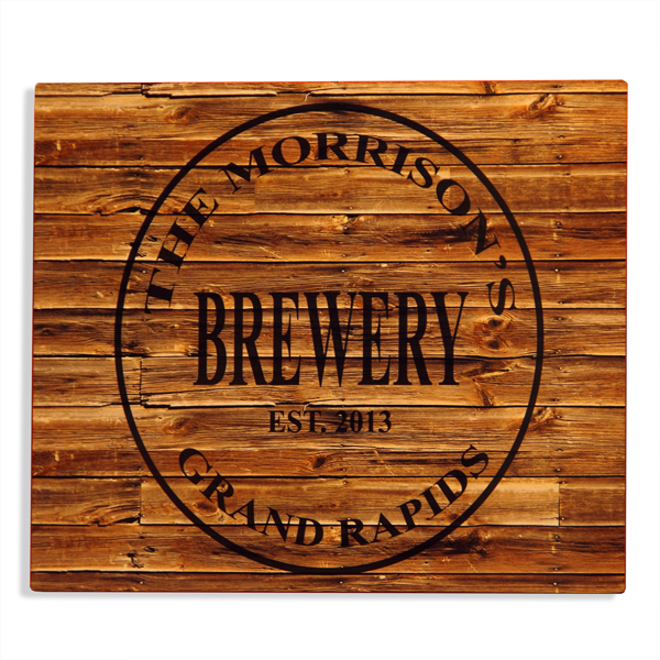 aluminum personalized home brewery sign