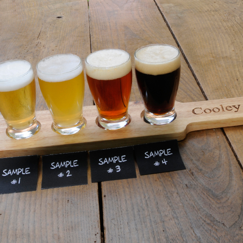beer flight sampler paddle