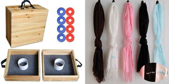 wooden wahshers set personalized pashmina scarves