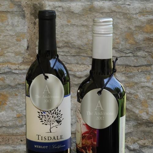 wine bottle medallions