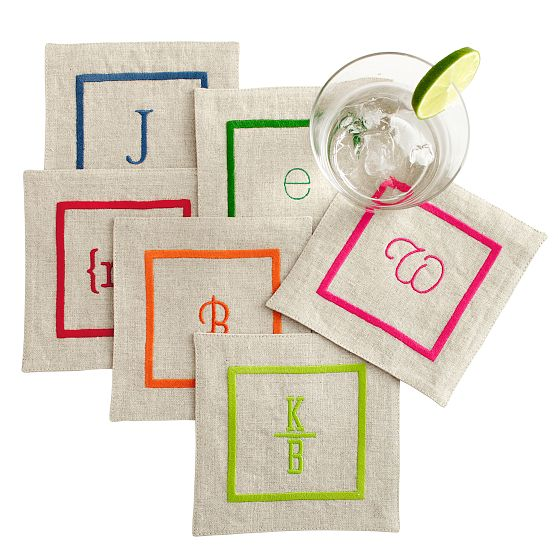 Linen-Satin-Stitch-Coasters