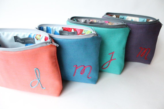 Personalized-Cosmetic-Bags-Bridesmaid-Gift-Set-of-4