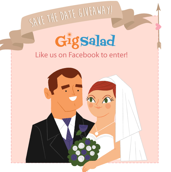 save the date wedding giveaway from gigsalad.com