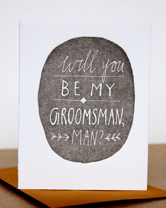 """will you be my groomsman?"" card"