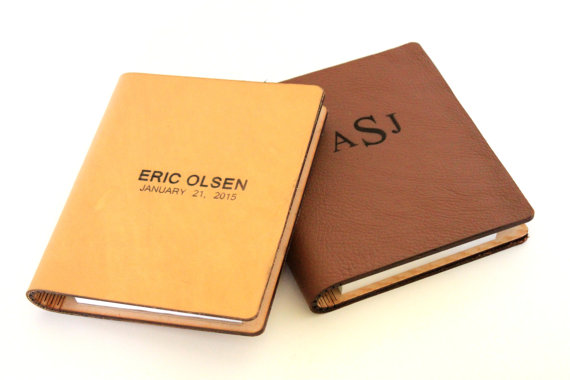 Father's Day Gift Idea: Dad's very own engraved leather journal (from The Man Registry)