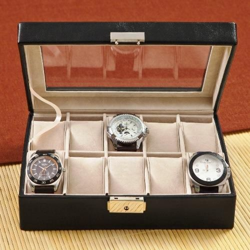 Father's Day Gift Idea: leather case to store his watches and other valuables (from The Man Registry)