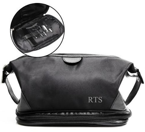 Father's Day Gift Idea: men's travel bag complete with grooming tool set (from The Man Registry)