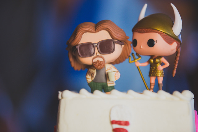 wedding cake toppers for the big lebowski movie
