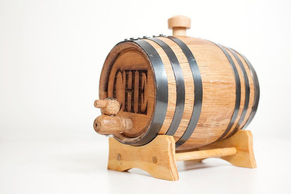 Mini Wood Bourbon Barrels for Groomsmen on Etsy