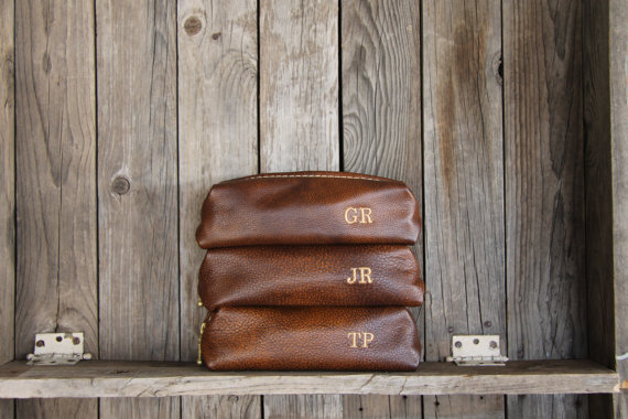 Leather Shaving Bags on Etsy