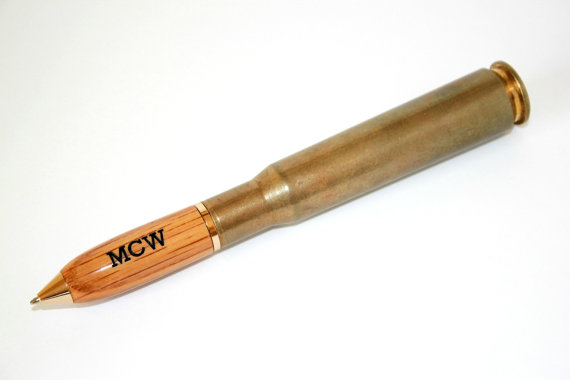 Engraved Whiskey Barrel Bullet Pens for Groomsmen on Etsy