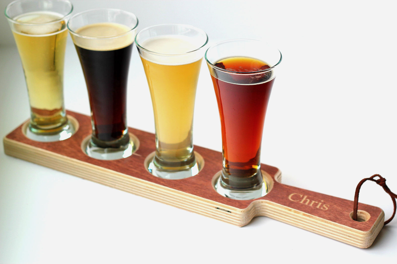 Engraved Wooden Beer Flight Paddles for Groomsmen on Etsy