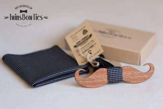 Wooden Bowties on Etsy