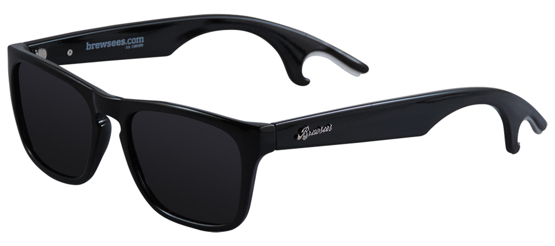 wayfarer designed sunglasses with bottle openers