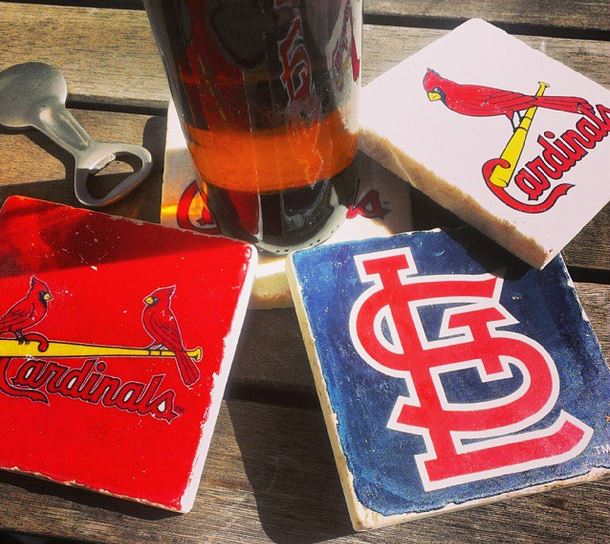 handcrafted 4pc. mlb marble team coaster sets