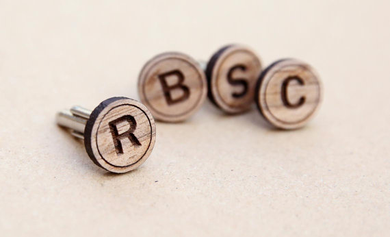 Cufflinks with Initials on them
