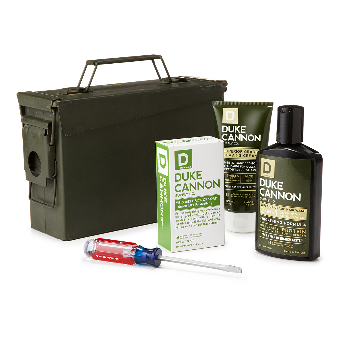 grooming kit modleed to look like a us army field kit