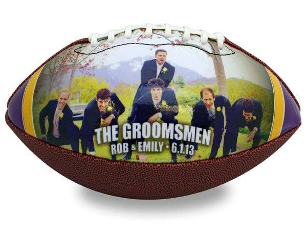 The Custom Photo Football is a top groomsman gift for 2015