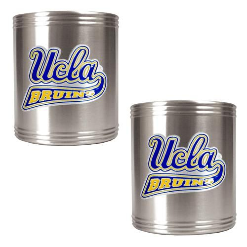 This matching pair of durable, officially licensed, stainless steel NCAA team koozies feature hand-crafted metal team logos and are designed to keep drinks cold for hours.