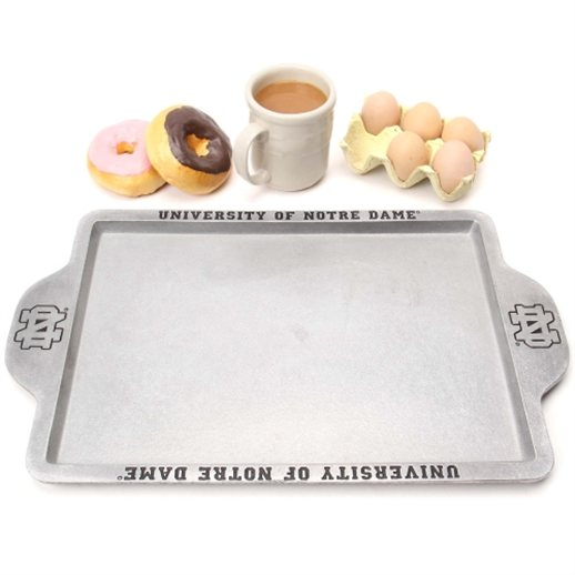 "Ideal for preparing and serving a hearty breakfast, brunch or lunch in the same dish on game day, this officially licensed, 11.5"" x 19.25"" griddle is decorated with the name and logo of his favorite team."