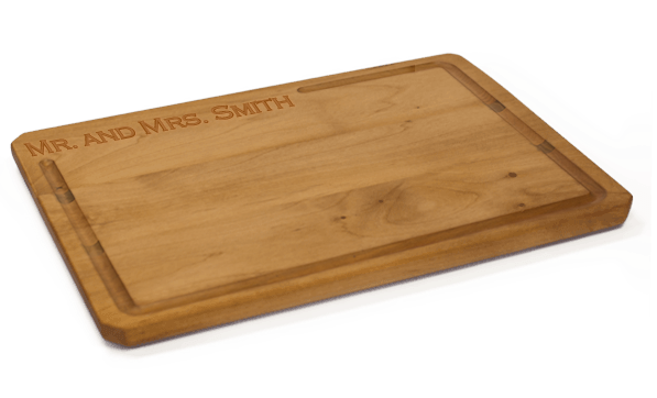These handsome custom cutting boards from Black Canyon Woodworks make a great one-of-a-kind wedding gift.