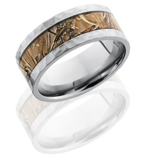 Deluxe Camouflage Wedding Ring For The Groom Designed By Kingsfield.  Available At Camo Ever After